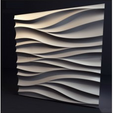 Гипсовая 3D панель CALIPSO Волна (Калипсо) 500*500*30мм