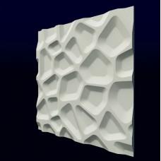 Гипсовая 3D панель CALIPSO Впадины (Калипсо) 500*500*20мм (под заказ от 10м2)