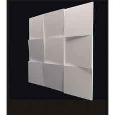 Гипсовая 3D панель CALIPSO Квадраты (Калипсо) 500*500*25мм