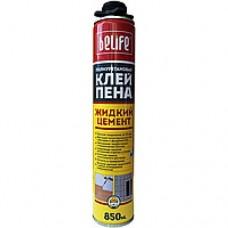 Монтажная пена-клей BELIFE Жидкий цемент (под пистолет), 850мл