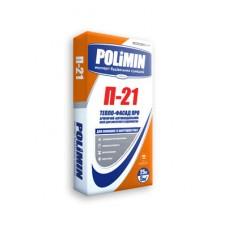 ПОЛИМИН П-21 Тепло фасад про (Polimin) армирующий клей, 25кг