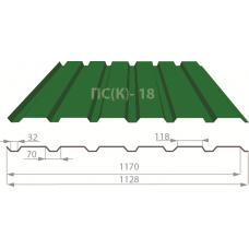 Профнастил стеновой ПС-18 полиестер 0,45мм 1170мм (1128мм) Корея