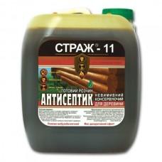 Антисептик пропитка биозащита для дерева СТРАЖ-11 (готовая), 10л