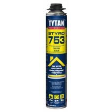 Профессиональная монтажная пена-клей  TYTAN Styro 753 (Титан), 750мл