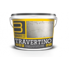 BRODECO Travertino Декоративная штукатурка (Бродеко Травертино) крупнозернистая (под камень), 15кг