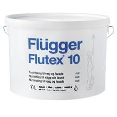 FLUGGER Flutex 10 Акриловая краска для стен и потолков  (Флюгер Флутекс 10), 10л