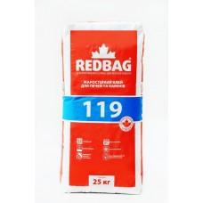REDBAG 119 Клей жаростойкий для печей и каминов (Редбег) 25кг
