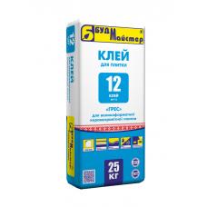 Клей для керамогранита БУДМАЙСТЕР Клей-12 (25кг)
