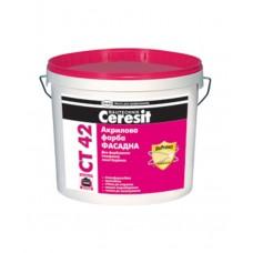 CERESIT CT 42 Краска фасадная акриловая, 10л (Церезит)