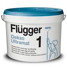 FLUGGER Dekso 1 Особо прочная ультраматовая краска (Флюгер Дексо1) 10л