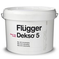 FLUGGER Dekso 5 Особо прочная матовая краска (Флюгер Дексо5) 10л