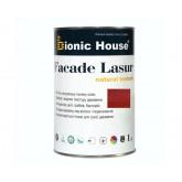 Краска для дерева на основе льняного масла Bionic House Facade Lasur, 1л