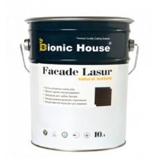 Краска для дерева на основе льняного масла Bionic House Facade Lasur, 10л